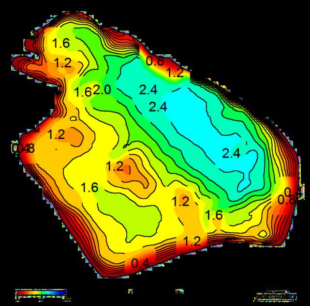 Steinhuder meer tiefenkarte